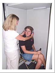 2 OSHA regulated sound reduction hearing testing booths allow 12 employees to be tested per hour.